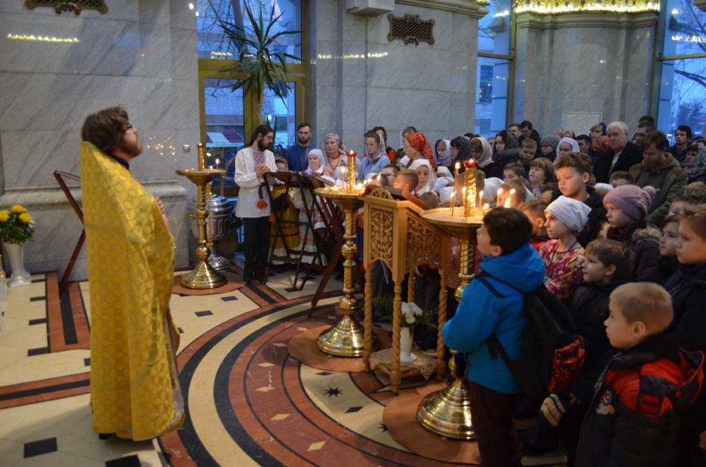 В Неделю о мытаре и фарисее состоялась Литургия гимназистов